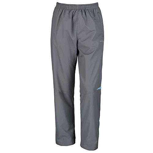 Spiro Mens Micro-Lite Team Training Track Sports Pants Grey/Aqua