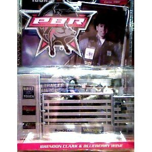 Brendon Clark Action Figure & Blurberry Wine- Micro Icons PBR Professional Bull Riding Series 1