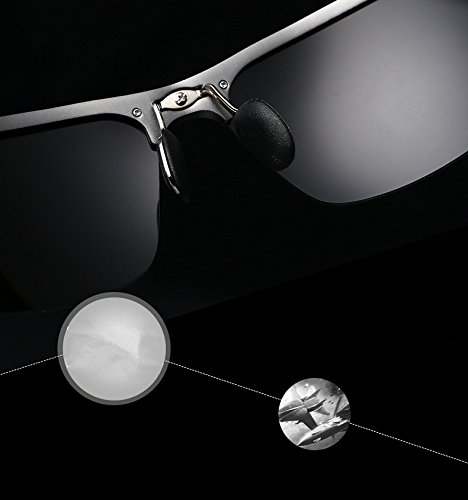 de 4 noire lunettes soleil couleurs aluminium protectrices UV400 argent lunettes polaris¨¦es lentille lunettes Minla en soleil ¨¦quitation Hommes sport de TP8x8z