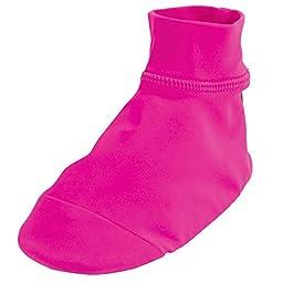 Sun Smarties Baby Girls UPF 50+ Non-Skid Sand and Water Socks Small Hot Pink