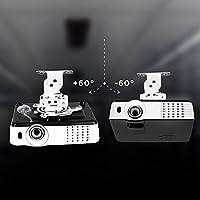 Duronic PB05XB Soporte para Proyector de Techo y Pared: Amazon.es ...
