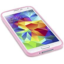 Caseiopeia SimplySafe Ultra Slim Case Premium Flexible TPU Cover for Galaxy S5 - Retail Packaging - Pink