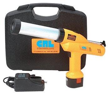 CRL 12 Volt Variable Speed Cordless Cartridge Caulking Gun Kit for Silicone Sealants