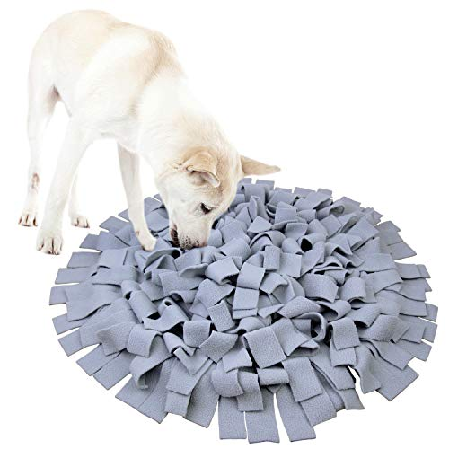 AK KYC Snuffle Mat for Dogs, Dog Feeding Mat, Dog Puzzle Enrichment Toys, Nosework Slow Feeding Training, Encourages Natural Foraging Skills, Perfect for Any Breed Stress Relief, Grey