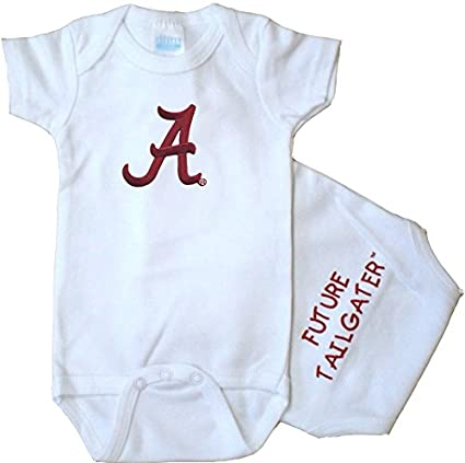 Future Tailgater Alabama Crimson Tide Personalized Heart Baby Onesie 6-12 Months