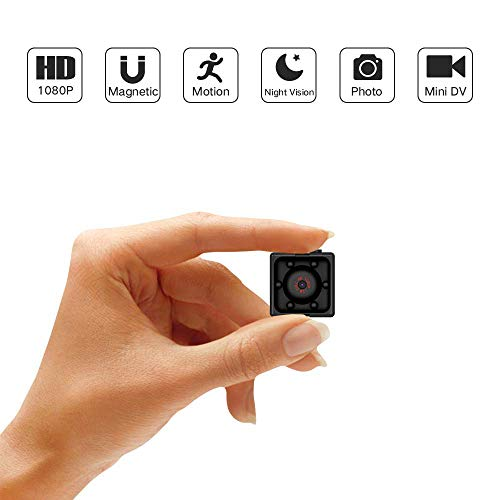 Mini Hidden Spy Camera Full HD 1080P Cam Magnetic Waterproof 6 IR with Audio Night Vision and Motion Detective Security Cameras for Home Car Drone Office