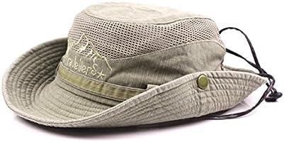 KeepSa Cotton Sun Hat UV Protection Summer Hats Beach Hat Safari Boonie Hat Foldable Fishsing Hat with Breathable Mesh...