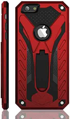iPhone 6 Plus/iPhone 6S Plus Case, Military Grade 12ft. Drop Tested Protective Case with Kickstand, Compatible with Apple iPhone 6 Plus/iPhone 6S Plus - Red