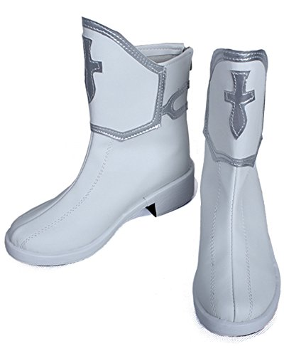 COSKING Asuna Yuuki Cosplay Shoes, Deluxe Women Halloween Japanese Anime Costume Boots (10)