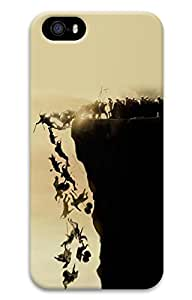 iPhone 5 Case, iPhone 5S Cases - Protective Slim Fit 3D Hard Cover Case for iPhone 5/5s Falling Off Cliff Ultra Thin Fit Hard Back Case Bumper for iPhone 5/5S