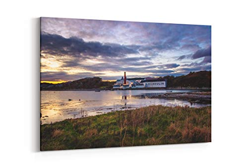 Scotland Islay Scotch and Whiskey in Scotland - Canvas Wall Art Gallery Wrapped 40