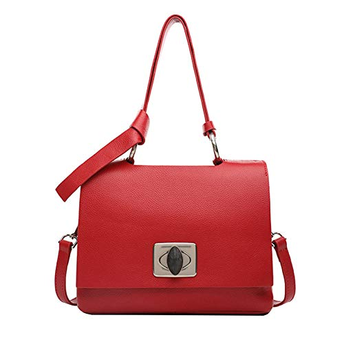 Sacs à main femme Miss Li en cuir véritable Bottoncini rouge / beige / gris clair