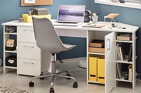 3717 Corner Office Table Corner Desk White Amazon De Kuche Haushalt