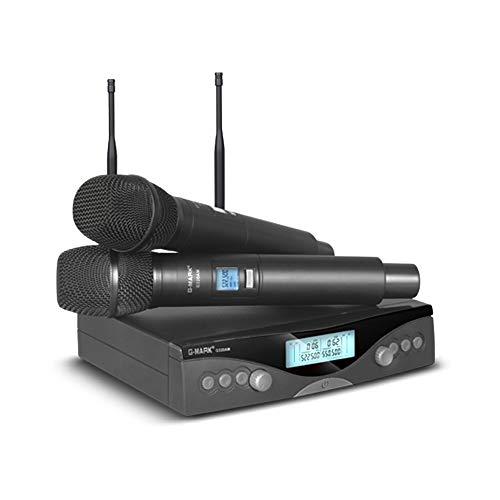 [해외]G 마크 G320AM 무선 마이크 시스템 전문가 UHF 자동 핸드헬드 마이크 주파수 조정 가능한 100M 수신 / G Mark G320AM Wireless Microphone System Professional UHF Automatic Handheld Microphone Frequency Adjustable 100M Reception