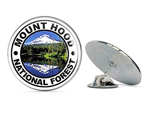 NYC Jewelers Round Mount Hood National Forest (Travel rv Oregon Hike) Metal 0.75