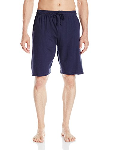 Solid Mens Pajamas - Essentials by Seven Apparel Big Ball Sports Men's Solid Cotton Knit Short, Navy, Medium