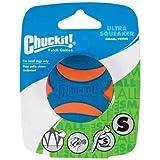 Chuckit! Ultra Squeaker Ball, Blue & Orange, Small