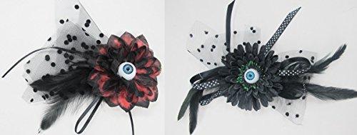 Halloween Eyeball Flower Hair Clip Costume Accessory, Set of 2 (Halloween Eyeball Photos)