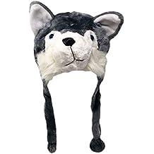 Plush Fun Animal Beanie Hat - One Size (Older Kids & Adults) - Polyester w/Fleece Lining