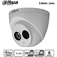 Dahua IP Camera HDW4431C-A 4MP HD Mini Turret Dome Network Camera PoE Built-in Mic IP67 Night Version IR 50M 3.6mm Lens