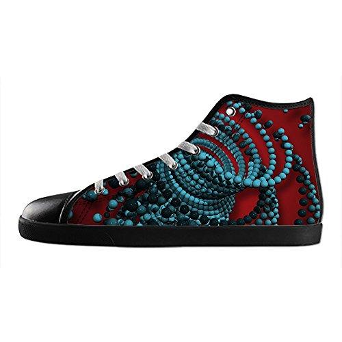 da 3D Le Stampa di Scarpe Scarpe Alto Sopra Lacci Tela Scarpe Shoes I Custom stereoscopica Men's Canvas in delle Ginnastica di Scarpe CZxwq5p