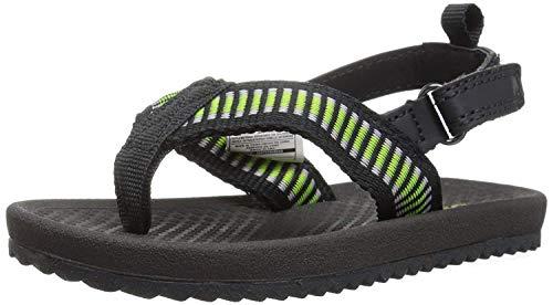 OshKosh B'Gosh Orville Boy's Flip Flop Sandal, Black, 10 M U