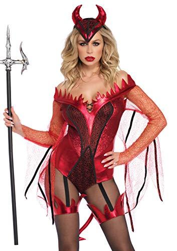 Leg Avenue Women's Sexy Red Devil Costume, -