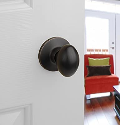 Dynasty Hardware ASP-82-12P Aspen Door Knob Passage Set Contractor Pack Aged Oil Rubbed Bronze 3 Pack