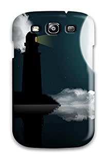 Ideal ZippyDoritEduard Case Cover For Galaxy S3(love Nature Beauty Boat Clouds Couple Moon Night Reflection), Protective Stylish Case