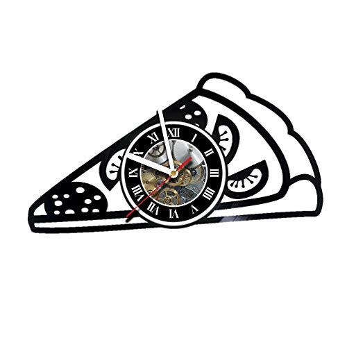 (Vikarthouse Pizza Hut - Wall Clock Made of Vinyl Record - Decor Original Design - Great Gifts idea for Birthday, Wedding, Anniversary, Women, Men, Friends, Girlfriend Boyfriend and)