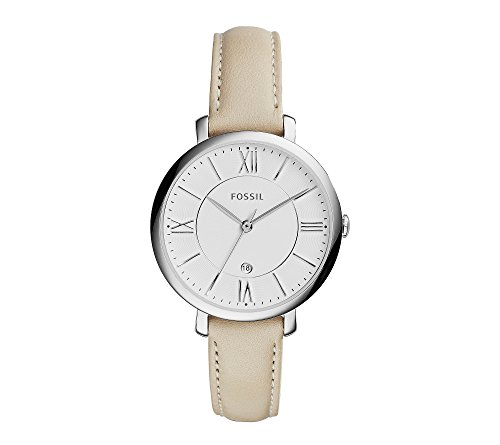Fossil-Womens-36mm-Jacqueline-Silvertone-Watch-With-Ivory-Leather-Strap