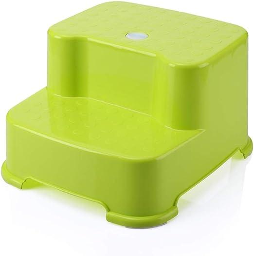 Byx- Escalera Taburete Taburete de plástico para niños Lavabo Taburete Bebé Banco pequeño Baño Antideslizante Asciende Reposapiés Taburete Asientos de Inodoro para niños (Color : Verde): Amazon.es: Hogar