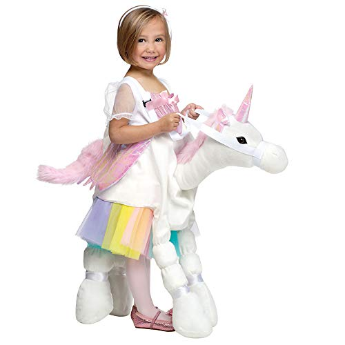 Fun World Costumes Baby Girl's Ride-A-Unicorn Costume, White/Pink, One Size -