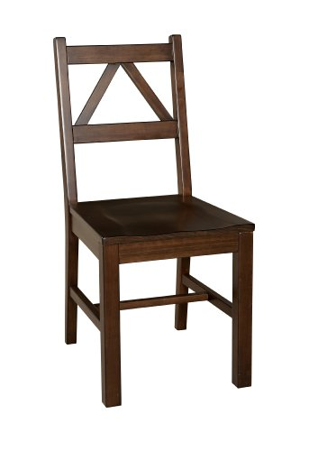 Tobacco Finish Wood - Linon Home Decor Titian Chair, Antique Tobacco Finish