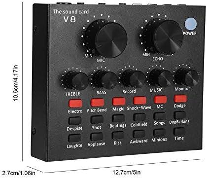 Tarjeta de sonido Ps4, GODLIKE tarjeta de sonido V8 Live con mezclador sonido portátil, dispositivo cambiador de voz para PS4 / Xbox/teléfono/iPad, ...