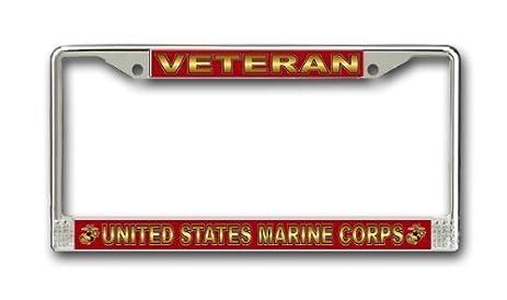 Amazon.com - US Marine Corps Veteran License Plate Frame ...