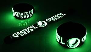 Grateful Dead nuevo brilla en la oscuridad pulsera de goma pulsera American Beauty HG208