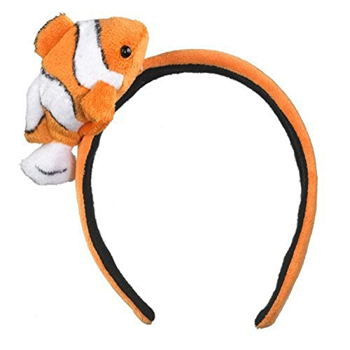 Fish Headband Costume (Clownfish Headband Plush Clown Fish Stuffed Costume Head Band Girls Hair Accessory)