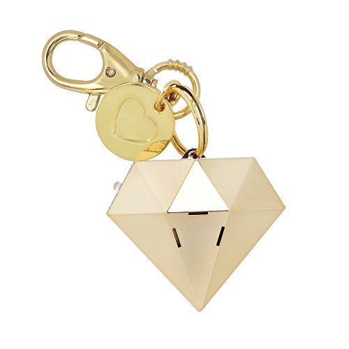 Personal Safety Alarm for Women - Ahh!-larm! Self-Defense Personal Panic 115 Decibel Alarm Keychain for Women with LED Safety Light and Clip, Gold Gemstone