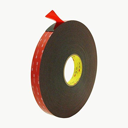 3M 5952 VHB Tape: 1'' x 36 yd., black by 3M
