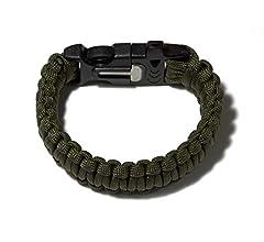 outdoor survie Paracord Bracelets - 2 Lot de deux noir /& vert