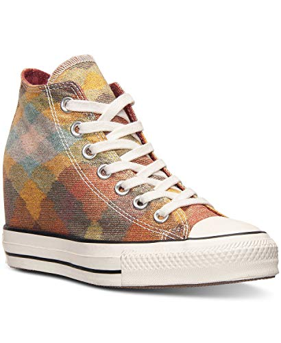 Womens Converse Chuck Taylor All Star Lux Missoni Wedge Casual Sneakers Auburn/Yellow 549688C 8 M US