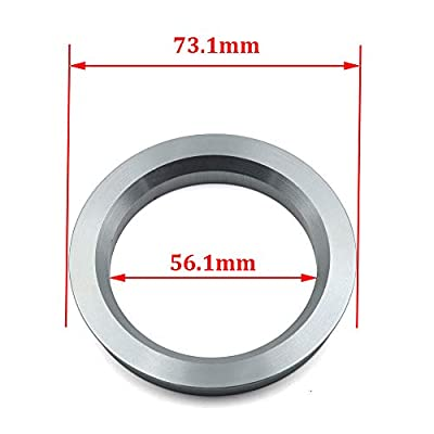 LU HWN 4X4 73.1 to 56.1 Gray Aluminum Hub Centric Rings - Pack of 4: Automotive