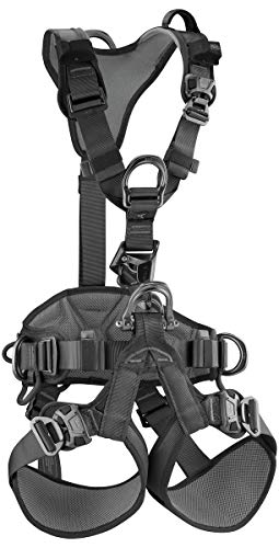 (PETZL - Astro BOD Fast Black Full Body Harness W/Integrated Croll L, Black,)