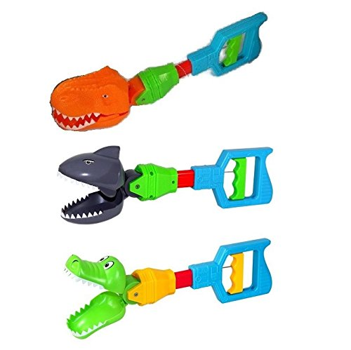 ((1) VEBE Kids Grabber Fine Motor Hand Eye Coordination Skills Toy Shark Alligator Claw or Dinosaur)