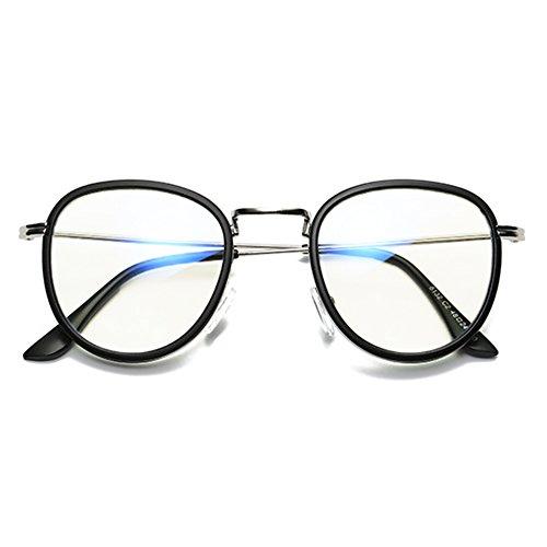 757b8a77f9 Envio gratis Hombres de las mujeres gafas redondas - Anti azul claro claro  lente gafas marco