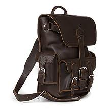 Saddleback Leather Thin Front Pocket Backpack - Best, 100% Full Grain Leather Backpack for School, Business or Travel.