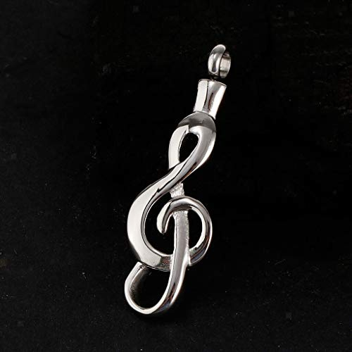 Stainless Steel Music Note Cremation Urn Memorial Charm Pendant DIY Necklace Jewelry Crafting Key Chain Bracelet Pendants Accessories Best