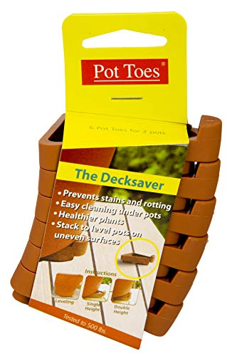 IGC Cartanna 100514152 Plantstand PT-06TCCS 6-Pack Terra Cotta Pot Toes, 1,