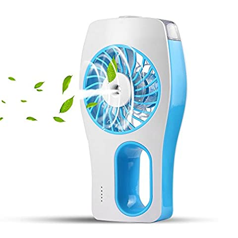 CTLpower Handheld Fan,Portable Mini Misting Personal Cooling Fan with Soft Wind and Ultra-quiet for Travel,Home,and Office - Blue Little Fan